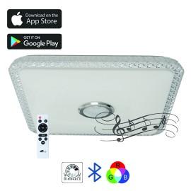 M205439-BT/RGB 2x32W 435x435mm LED SMD plafonjera sa zvučnikom 5W, bluetooth, Android/iOS APP iLink  (muzička plafonjera) Mitea Lighting