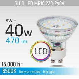 -S GU10 5W 6500K LED staklena sijalica 220-240V Mitea Lighting