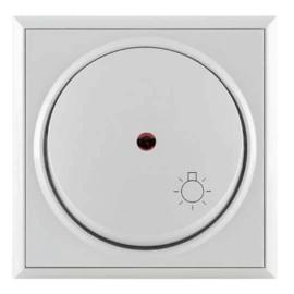 Metalka Majur taster svetlo sa indikatorom beli bezvijčana veza P+