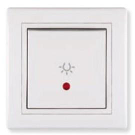 Aling taster svetlo sa indikatorom beli 609I.00 Prestige