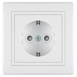 Aling priključnica šuho II zaštita kontakta 601.00 Prestige bela